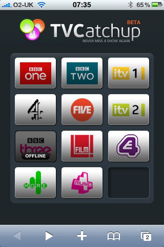 TV Catchup for iPhone