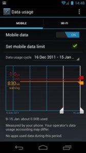 Android 4 Data Usage Monitor