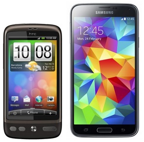 HTC Desire and Galaxy S5
