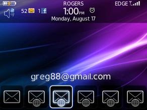 BlackBerry Enhanced Gmail