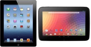 iPad 4 and Nexus 10