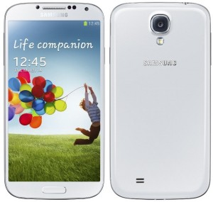 Galaxy S4 White Front And Back