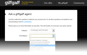giffgaff Customer Support: Ask an Agent Form