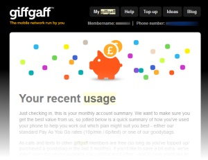 Giffgaff Monthly Best Plan Email