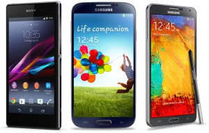 giffgaff smartphones include the Xperia Z1, Galaxy S4 and Note 3.