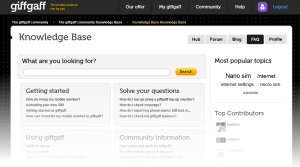 giffgaff Knowledge Base