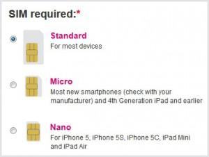 OVIVO Mobile: Select SIM Size