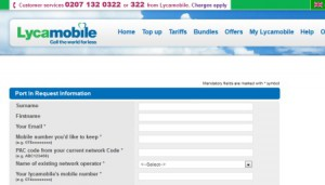 Transfer Phone Number to Lycamobile