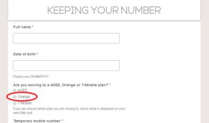 Transfer Phone Number to Orange