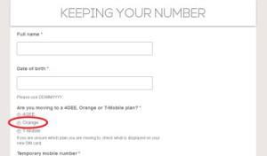 Transfer Phone Number to Orange