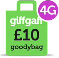 Giffgaff 4G Goodybag - 10 per month