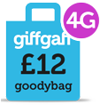 Giffgaff 4G Goodybag - 12 per month