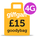 Giffgaff 4G Goodybag - 15 per month