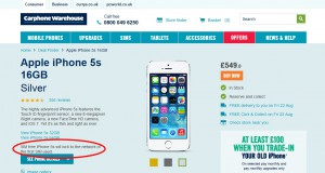 Carphone Warehouse SIM-Free iPhone Locking