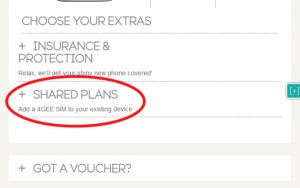 Shared Plans in EE Checkout
