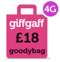 Giffgaff 4G Goodybag - 18 per month