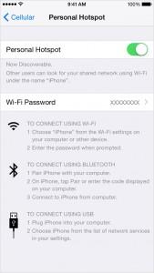 iOS8 Tethering
