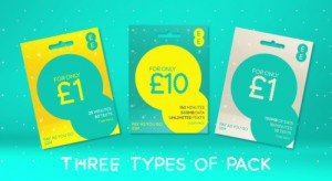 EE Pay As You Go - Three Types Of Pack