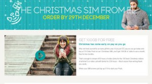 EE Christmas SIM Website