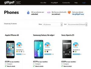 Giffgaff Phone Store