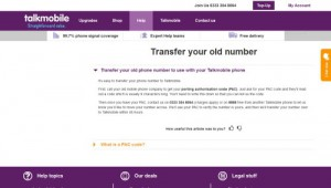 Talkmobile Transfer Phone Number
