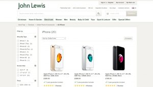 John Lewis iPhone
