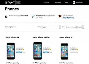 giffgaff Phone Store - iPhone