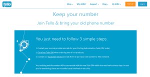 Transfer Phone Number to Tello