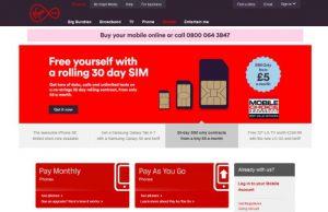 Virgin Mobile Website