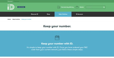 iD PAC Code: Keep Your Number When Changing Networks