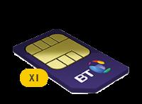 1x BT 2GB Family SIM Card