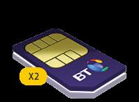2x BT 2GB Family SIM Card