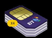 4x BT 2GB Family SIM Card