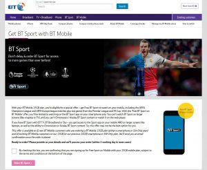 BT Mobile - Adding BT Sport
