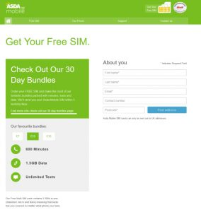 ASDA Mobile SIM Card 2017