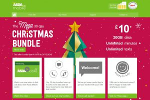 ASDA Mobile Website Christmas 2016