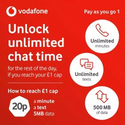 Vodafone Pay As You Go 1 Review 1 Day For Unltd Mins 500mb Data