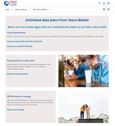 Tesco Mobile Unlimited Data Plans