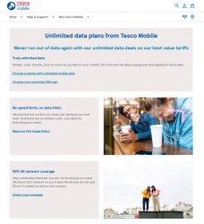 Tesco Mobile Unlimited Data Plans